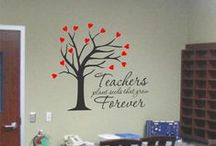 Teacher Appreciation Gift Ideas / Some easy and creative ideas for a favorite teacher. Let your child's teacher know they are appreciated and loved while making their classroom a little more fun and creative with some Custom Vinyl Wall & Window Quotes, Words, etc. by The Simple Stencil