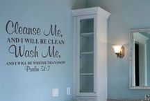 Bathroom Wall Decor / Vinyl Wall Lettering Designs created exclusively for bathrooms. A leader in the vinyl decor industry since 2003.