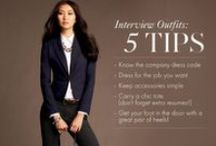 Interview Outfits for Ladies / Dress the part and you'll feel the part. Be confident about your ability to get the job and advance your career.