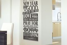 NEW YEAR INSPIRATIONAL WALL QUOTES / Custom vinyl wall quotes and window lettering decals to help inspire and motivate you in the new year!  Our vinyl wall quotes are easy to install, look painted on but are also removable. Custom design your favorite inspirational quote to inspire and motivate you all year! Free Samples available at www.TheSimpleStencil.com