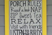 Porch ideas / by Morgan Ellington Kem