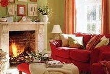 Orange, Coral, Peach/ Tangerine Rooms and Decorations / by Carol Lilley