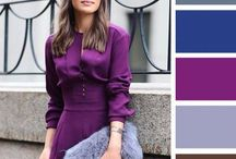 Colours outfits outfit lilla/ viola