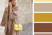 Colours outfits cammello, beige, fango, marrone