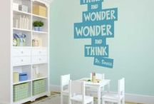 Dr. Seuss Wall Quotes, Stickers & Decals for School & Library Walls / A collection of our vinyl wall quotes, decals, stickers, murals and printed posters dedicated just to Classic Dr. Seuss phrases and poems. These easy to apply decals are an easy and affordable way to decorate a child's room, school classroom or hallways, children's area in the library or pediatricians offices.