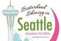 Convention 2014 / 76th International Gamma Phi Beta Convention | Sisterhood Shining in Seattle | July 9-13, 2014 | #ShineInSeattle