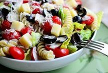 pasta salads. / Pasta salads make the perfect side dish to any meal for any season! / by Mom Spark // MomSpark.com
