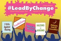 National Hazing Prevention Week 2014 / Participate in Gamma Phi Beta's #LeadByChange Anti-Hazing Campaign during National Hazing Prevention Week, September 22-26. We know that hazing is wrong. It's time that our actions follow our thoughts. Stand up for what is right, and lead by change!