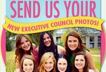 Collegiate Chapter Executive Councils 2015 / Meet our collegiate chapter executive councils for 2015!   The chapter names and universities are in each photo caption. Want to be featured? Send your chapter's new executive council photo to TheCrescent@gammaphibeta.org.