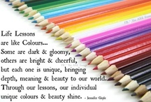 Color my world / And brighten my day / by Susan Bauer