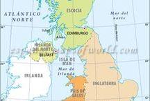1. E//UK / United Kingdom of Great Britain and Northern Ireland es un estado de Europa occidental, en las islas Británicas, incluyendo un 1/6 de la isla de Irlanda. Se formó por la sucesiva unión al reino de Inglaterra de Gales (en 1536), Escocia (1603) e Irlanda del Norte (Ulster, 1922). otras islas del archipiélago británico son: Wight, Man, Anglesey, Hébridas, Orcadas y Shetland) y las pequeñas islas Anglonormandas, frente a la península francesa de Cotentin.