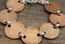 Laurel Moon Coin Jewelry / Bracelets, earrings, and necklaces made with coins - designs I've made in the past, or are currently available in my Etsy shop.  Enjoy!