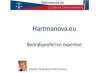 Bedrijfspresentatie Hartmanova.eu / Presentatie dienstverlening Hartmanova.eu - Tsjechisch recht in het Nederlands voor particulieren en ondernemers.