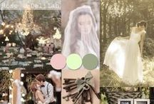 Inspiration Boards / Inspiring wedding mood boards to help you create your perfect color palette and include a Rose & Delilah gown into your special day