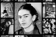 Frida Kahlo / Nome completoMagdalena Carmen Frieda Kahlo y Calderón Nascimento6 de julho de 1907 Coyoacán, Distrito Federal México Morte13 de julho de 1954 (47 anos) Coyoacán, México  / by Giza d'Eça