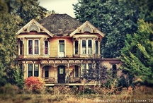 Abandoned or worn / Deserted mansions, mental institutions, amusement parks, and other interesting old abandoned stuff.