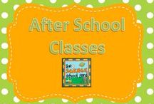 After school classes / Always looking for after school ideas!