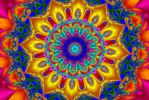 """Mandalas / Maṇḍala (मण्डल) is a Sanskrit word meaning """"circle."""" In the Buddhist and Hindu religious traditions sacred art often takes a mandala form."""