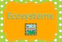 Ecosystems / Teaching habitats and ecosystems science? Life cycle ideas, food chain connections, adaptation lessons and ideas, resources, and art connections ready to try! Check out the Science School Yard blog to see this concept in action!