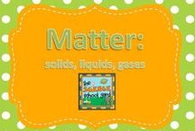 Matter: solids, liquids, gas / It ALL matters! This board is filled with ideas, review extensions, solids, liquids, gases, all forms! Great story connections, STEM solid activities, experiments to get learners engaged! Even digital resources to keep them excited!