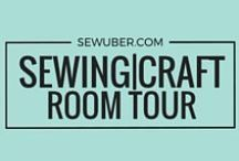 """Sewing Craft Room Tour / Be inspired of this beautiful sewing rooms! Learn how to maximize your space and turn your sewing room aka """"your favorite place to be""""."""