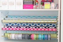 Controlling the Clutter! / I love smart and simple organization solutions. It is a bonus if they are pretty and can be done on a budget!