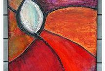 Linns ♥Art and Soul - Mixed media and Canvas / Art made by Linn Sjåfjell - LinnS heArt and Soul