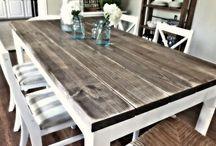 Farmhouse kitchen table / by Julie Slagle