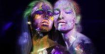 UV black light photography / Ultraviolet photoshoot MUAH: Marjolein de Ridder Models: Zilla van den Born , Jessie de Booij Light effects: Erl Dekker Photographer: Aleksandra Striapunina
