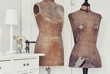 dress forms / by Ticking and Toile