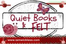 Quiet Books & Felt / This Pinterest board is has ideas and helpful hints on how to make a quiet book, and quiet book patterns. Also included in this board are patterns for felt toys and ornaments.