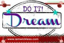 DREAM / This Pinterest board is about setting goals, resolutions, and creating a dream board or vision board for the New Year. Check out all the fun ideas and tips to making a great start! www.iamwickless.com