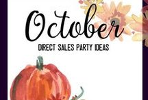 October Home Party Ideas / If you're in the home party business, here are some great ideas based around fun October holidays. Nothing scary about these home party ideas.
