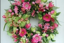 Wreaths and Flowers  / Welcome to my HOME / by Janet Hall