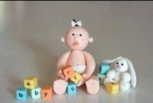 CAKE DECO FONDANT: Babies / by Frances Galvez