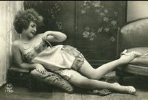 Vintage Photography - Sofa Girls / This is a private collection of antique boudoir images I titled the Sofa Girls which I used for various advertising and signage for my store (CuriousSofa.com) during 2001-2010. / by Curious Sofa