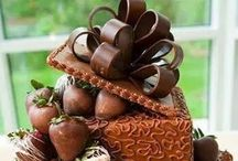 Chocolate Wedding Ideas / Browse these ideas on how to incorporate luscious chocolate on one of the sweetest days of your life. Chocolate wedding cakes, dipped strawberries, dipped pretzels & lots more for a casual or elegant wedding theme. www.Chocoley.com