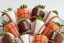 Chocolate w/ Sports Theme / The best ideas & recipes for making chocolate treats for sport enthusiasts. Chocolates for baseball lovers. Chocolates for football fanatics. Chocolates for golfers. Chocolate for basketball fans. And many more sports!    Chocoley. Chocolate has everything you need for all of your chocolate creations -  gourmet couverture chocolate & gourmet compound chocolate, gourmet caramel & cream centers and more. www.chocoley.com
