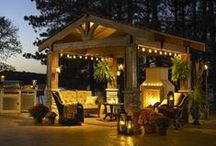 Rustic Patio and Backyard Ideas / Furniture, products and ideas to create a rustic patio.