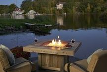 Lakeside Relaxation / Lakeside home/cabin outdoor patio design.