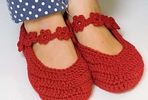 Crochet Slippers,Socks and Boot Cuffs / All of my pins are for patterns that are FREE! thanks to the wonderful craftspeople who share their talent with the world.  You may need to log into a site to get the pattern, but there is no charge for that either.  Hope you enjoy!