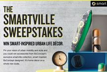 smartville sweepstakes / Pin your vision of urban mobility and style and you could win accessories from BoConcept's exclusive smartville collection. smart inspired. BoConcept designed. It's home décor on a whole new scale. / by Official smart USA