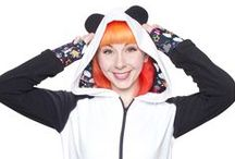Kawaii White Panda Hoodie / Our handmade Kawaii Collection Panda ear hoodie is one of our most classic styles! This unique design will keep you cozy and cute and not to mention, looking super rad with our Neon Galaxy Unicorn print detailing!