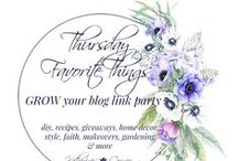 Thursday Favorite Things Blog Hop & Link Party / Sharing photos from bloggers that join our link party Thursday Favorite Things Blog Hop.  You will find: Recipe Ideas | Craft Ideas  | Kids Crafts | Home Decor Inspiration | Kitchen Design Ideas | Organization Tips | Free Planners | Women's Fashion Ideas | DIY Home Decor Inspiration| Family & Faith