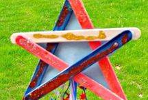 4th of July Crafts / Looking for patriotic crafts?  You're in the right spot!  Here are some of our favorite crafts celebrating America.  Check out Green Kid Crafts products on http://www.GreenKidCrafts.com