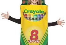 Crayola Crayon Costumes / The perfect costume idea for a back to school theme, nostalgia party, or even a colour theme! Who doesn't remember these great crayons from their childhood? Now you can dress up as your favourite crayon colour, or get your friends together and go as a group!