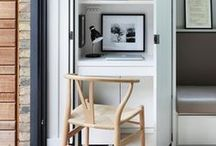 Workspaces / Work it real good! Desks in small spaces and offices for workspace design ideas.