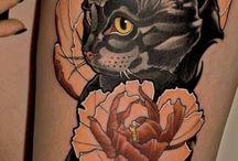 Cats tattooed