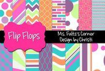 School Digitals / Clip art, digital papers, alphabets, etc. for creating classroom and blog resources