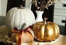 All Things Thanksgiving Decor / Thanksgiving is about the food almost as much as the table and centerpiece. Almost.